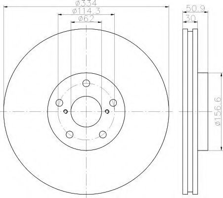 Тормозной диск HELLA 8DD355112861