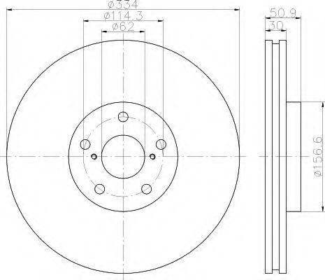 Тормозной диск HELLA 8DD355112871