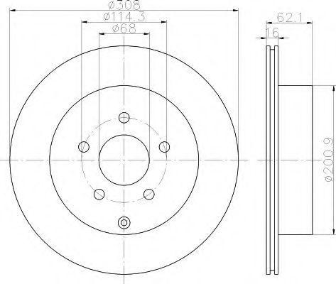 Тормозной диск HELLA 8DD355113031