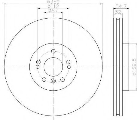 Тормозной диск HELLA 8DD355113181