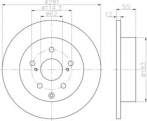 Тормозной диск HELLA 8DD355114071
