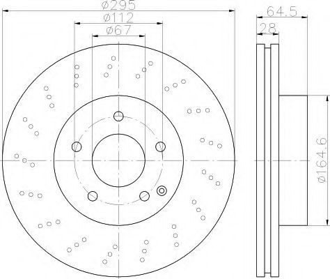 Тормозной диск HELLA 8DD355114391