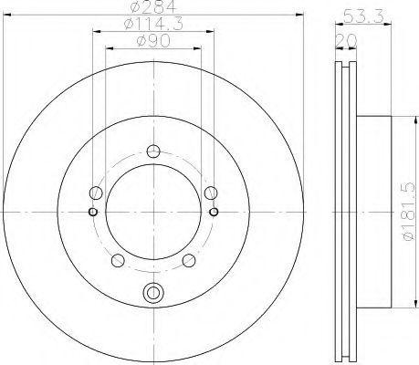 Тормозной диск HELLA 8DD355114961