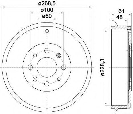 Тормозной барабан HELLA 8DT355300651