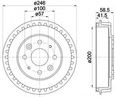 Тормозной барабан HELLA 8DT355300781