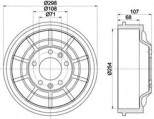 Тормозной барабан HELLA 8DT355301021