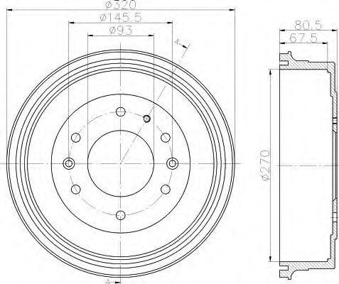 Тормозной барабан HELLA 8DT355301051