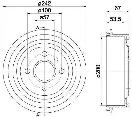 Тормозной барабан HELLA 8DT355301171