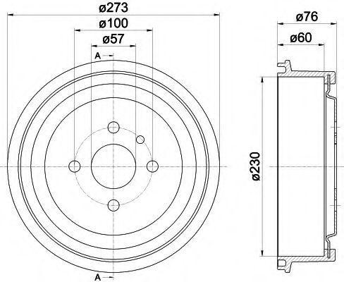 Тормозной барабан HELLA 8DT355301191