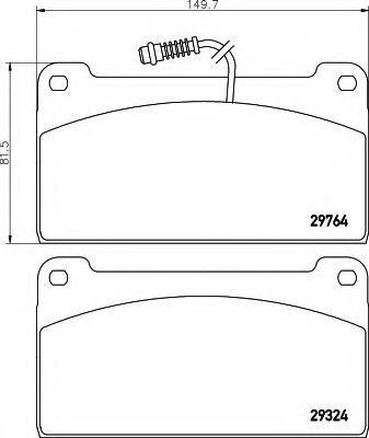 Комплект тормозных колодок, дисковый тормоз HELLA 8DB355005441
