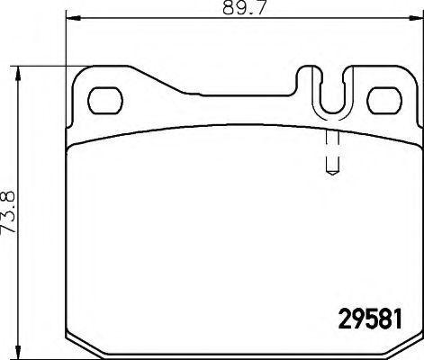 Комплект тормозных колодок, дисковый тормоз HELLA 8DB355005461