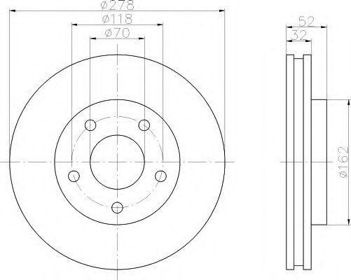 Тормозной диск HELLA 8DD355106011