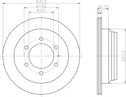 Тормозной диск HELLA 8DD355106021
