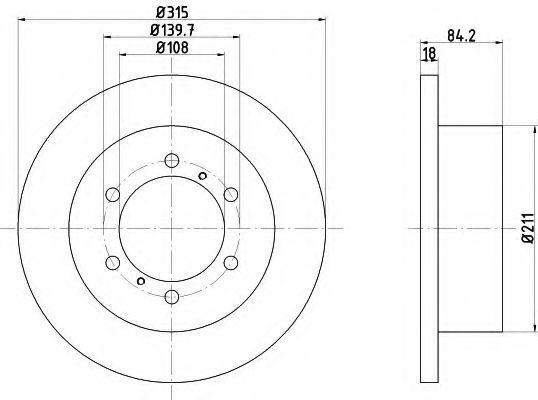 Тормозной диск HELLA 8DD355106221