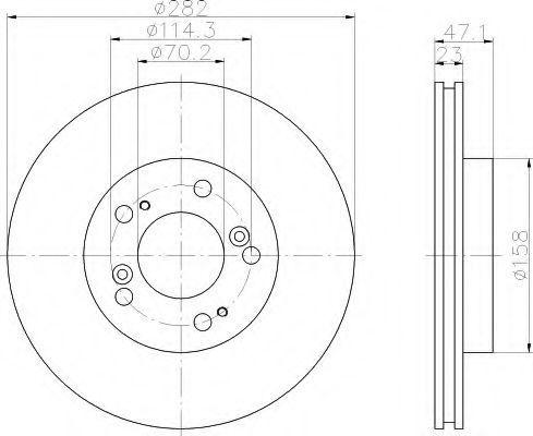 Тормозной диск HELLA 8DD355107131