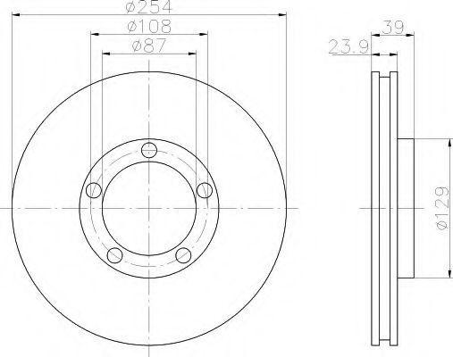 Тормозной диск HELLA 8DD355107141