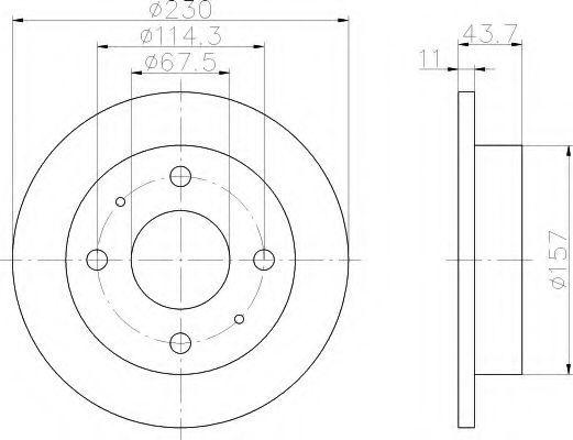 Тормозной диск HELLA 8DD355107171