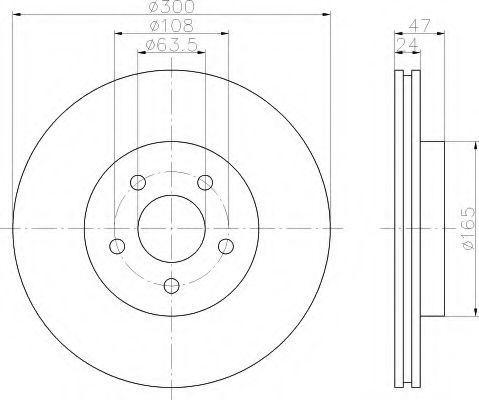 Тормозной диск HELLA 8DD355108031