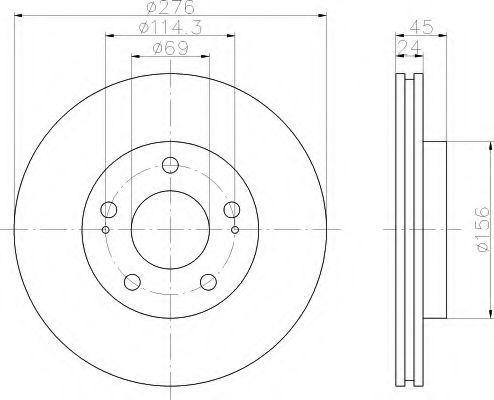 Тормозной диск HELLA 8DD355108191
