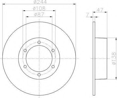 Тормозной диск HELLA 8DD355100281