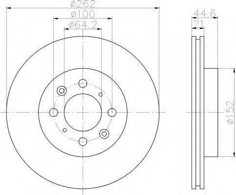 Тормозной диск HELLA 8DD355103121