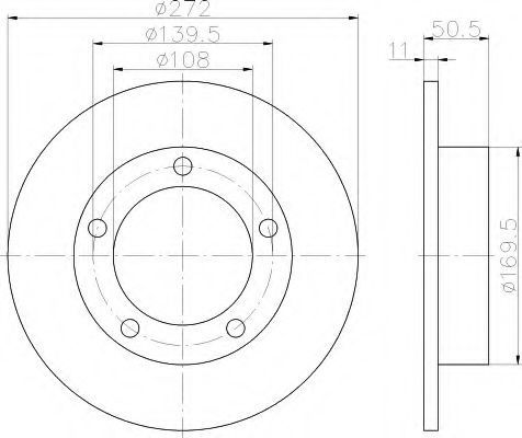 Тормозной диск HELLA 8DD355100381