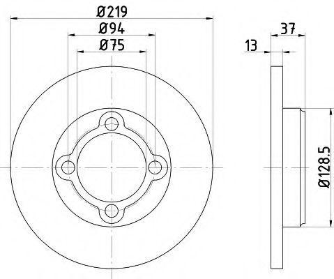 Тормозной диск HELLA 8DD355103651