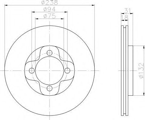 Тормозной диск HELLA 8DD355101981