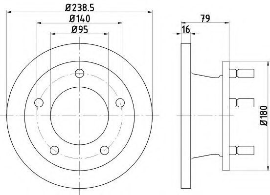 Тормозной диск HELLA 8DD355101471