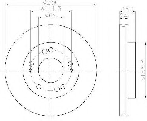Тормозной диск HELLA 8DD355103311