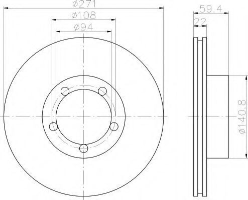 Тормозной диск HELLA 8DD355101021