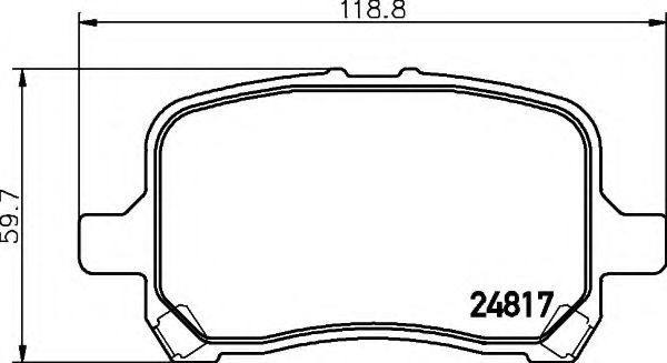 Комплект тормозных колодок, дисковый тормоз HELLA 8DB355014691