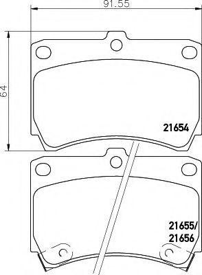 Комплект тормозных колодок, дисковый тормоз HELLA 8DB355016431
