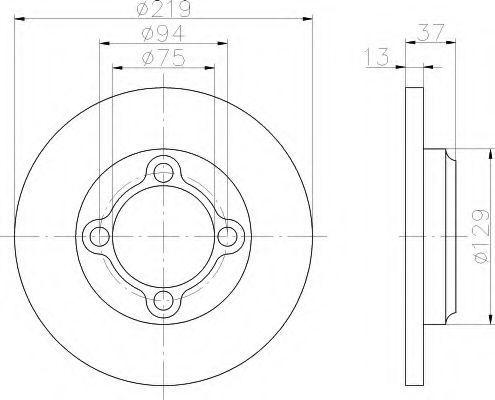 Тормозной диск HELLA 8DD355109041