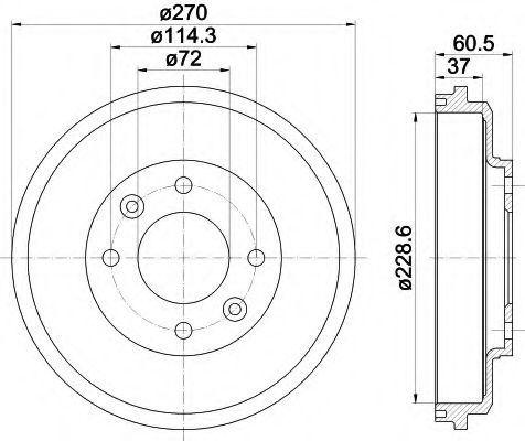 Тормозной барабан HELLA 8DT355301741