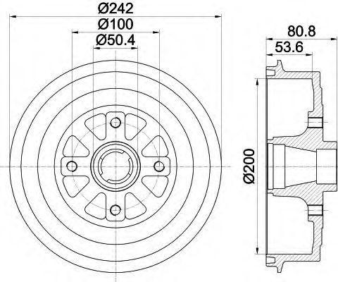 Тормозной барабан HELLA 8DT355301801