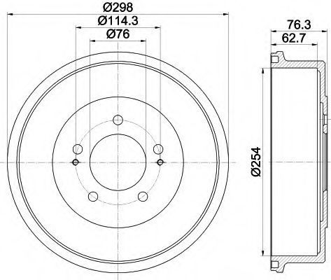Тормозной барабан HELLA 8DT355301861