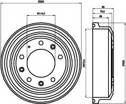 Тормозной барабан HELLA 8DT355302371