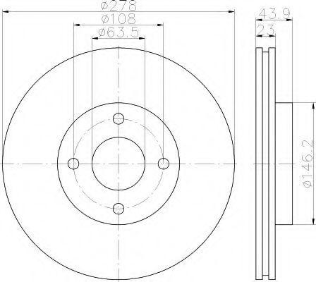 Тормозной диск HELLA 8DD355118181