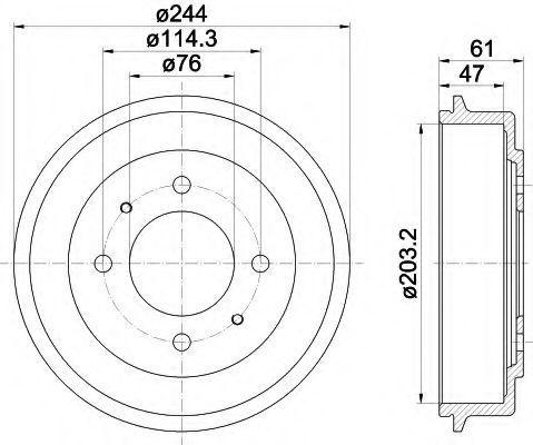 Тормозной барабан HELLA 8DT355301781