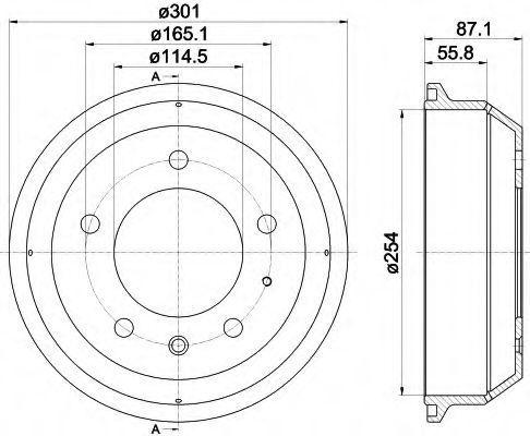 Тормозной барабан HELLA 8DT355302441