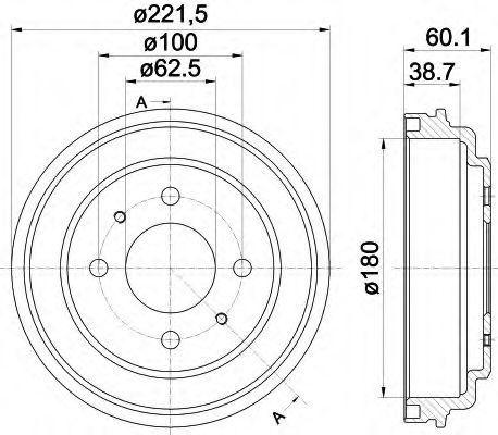 Тормозной барабан HELLA 8DT355302451