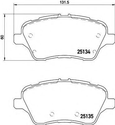 Комплект тормозных колодок, дисковый тормоз HELLA 8DB355020621