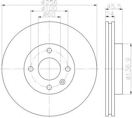 Тормозной диск HELLA 8DD355119351