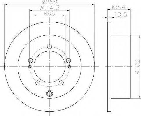 Тормозной диск HELLA 8DD355119831