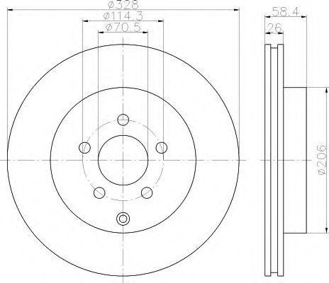 Тормозной диск HELLA 8DD355120031