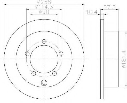Тормозной диск HELLA 8DD355120041