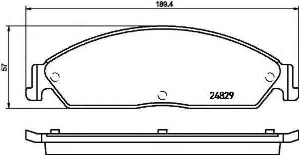 Комплект тормозных колодок, дисковый тормоз HELLA 8DB355021051