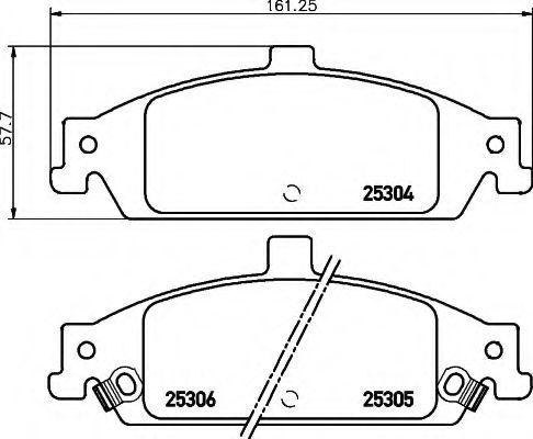 Комплект тормозных колодок, дисковый тормоз HELLA 8DB355020911
