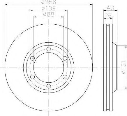 Тормозной диск HELLA 8DD355119971